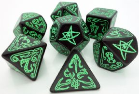 Call of Cthulhu Black & Green Dice Set